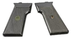 Grips, Original, Circa 1960, Black Checkered Plastic