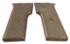 Grips, Original, Circa 1960, Brown Bakelite