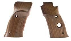 Grips, Left Hand, Target, Ckrd Walnut, Factory Original (w/ Minor Blemishes)