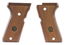 Grips, Checkered Walnut, New Factory Original - For American Magazine Catch