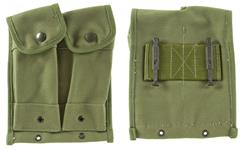 Magazine Pouch, 2-Pocket, OD Canvas, Reproduction