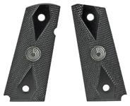Grips, Plastic, Black w/ Para Medallions