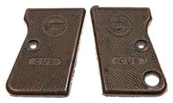 Grips, Original, Brown Plastic (Marked Cub)