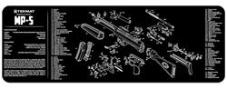 "TekMat Rifle Mat, 12"" x 36"" for Heckler & Koch MP5"