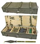 Grenade, Inert, RPG-7, Wooden Crate of Six