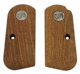 Grips, Checkered Walnut w/Medallion Used (Does Not Include Screw or Escutcheons)