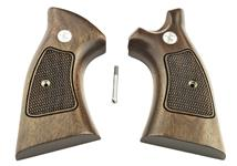 Grips, Target, Square Butt, Checkered Walnut w/ Speedloader Cut