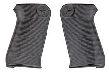 Grips, Black Plastic, New Reproduction