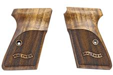 Walther PPK/S .22 caliber pistol grips made from French Walnut, Walther banner logo, Includes screw