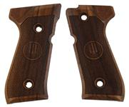 Beretta 92/96 full-size series pistol grips made from English Walnut, Beretta logo.