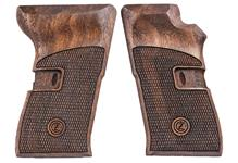 Grips, Checkered Black Walnut w/Logo, New Reproduction