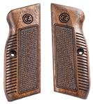 CZ 75 pistol grips made from Black Walnut, CZ logo