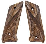 Ruger MKI pistol grips made from French Walnut, Fish Net design (For Early Unmarked Grip Frame)