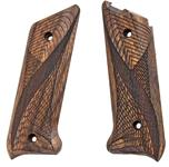 Ruger MK2 pistol grips made from French Walnut, Fish Net design.