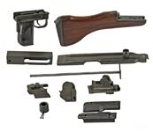 Parts Kit w/ Wooden Buttstock (No Barrel, Receiver & Magazine), Good to Very Good Condition