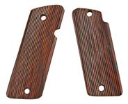"Grips, Serrated, Walnut - Screw Holes are .280"" Dia."