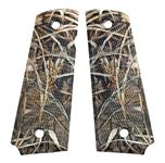 """Grips, Large, Polymer, Wetlands Camo (Holes 3-1/8"""" Center to Center)"""