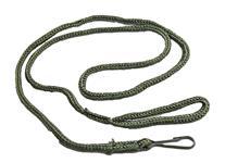 Lanyard, Green Nylon w/Loop & Steel Clip