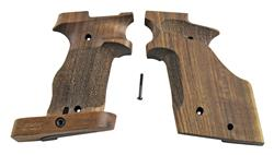 Grips, Match Target, Right, Adjustable, Nill-Griffe, Walnut