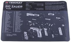 """TekMat Handgun Mat, 11"""" x 17"""", For Sig Sauer P226"""