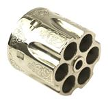 Cylinder, .45 ACP, 6 Shot, Engraved Nickel, New Reproduction