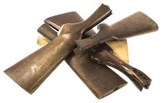 Bundle of 5 Rifle / Shotgun Stocks, Wooden, Altered / Cracked, Random Selection