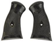 Grips, Large Frame, Black Checkered Plastic (For 4 & 6