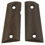 """Grips, 2 - 4"""" Center to Center Screw Holes, Brown Checkered Plastic"""