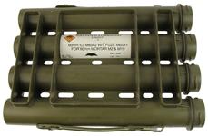 Storage Tube For M83A2 60mm Illuminating Mortar Rds, G.I., OD Plastic w/o Caps