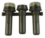 Grenade Tubes, Set of 3, Belgian Military, OD Plastic, Missing Cap, Used