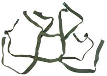 "Carry Harness, 1"", Vietnam Era, Markings Vary, OD Green Canvas, Used"