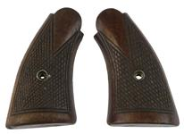 Grips, Square Butt, Service, Checkered Walnut, Used Factory