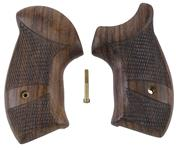 Grips, Round Butt, Walnut Checkered w/Speedloader Cut, Used Eagle Grips Mfg.