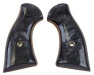 Grips, Laminated Black Pearl w/o Screw, Used Jay Scott Mfg.