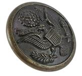 "Button, 1 1/8"" OD, WWII U.S. Army, Great Eagle Seal, Brass, Superior Quality"