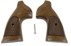 Grips, Square Butt, Target, Oversized, Checkered, Walnut w/Open Backstrap, New