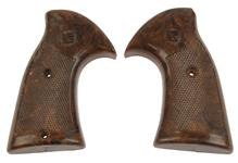 Grips, Model Markings Vary, Brown Checkered Plastic, Used Factory