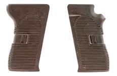 Grips, New Original, Brown Bakelite (Pair)