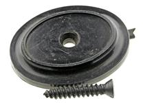 "Grip Cap, Flat, Plain (w/ Screw; 1.350"" Wide x 1.725"" Long)"