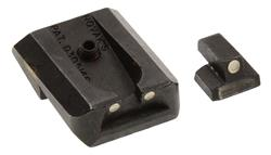 Rear Sight, Style A, White Three Dot, Novak Low Mount Fixed Carry