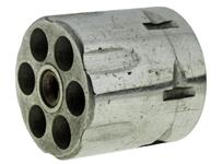 Cylinder & Extractor Assembly, Early Type, Nickel, .32 Cal., 6 Shot