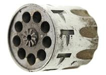 Cylinder & Extractor Assembly, .22 Cal., 9 Shot, Nickel - For S/N Up to T45000