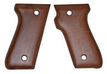 Grips, New Original, Smooth Walnut Stained Hardwood