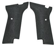 Grips, Military, Black Checkered Rubber