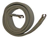 "Sling w/ Hooks, Orig British, Canvas (Unmarked w/ Brass Hardware; 1-1/4"" x 45"")"