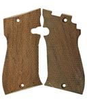 Grips, .22 Cal., Checkered Wood, New (Target & Sport Series)