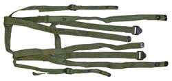 Carry Strap Assy, Sleeping Bag-US Surplus Olive Drab Canvas w/Blued Steel Buckle