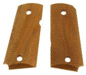 Grips, Detonics - Checkered Walnut, Clear Lacquer Finish