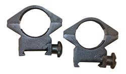 Scope Rings, 1'' Top Mount, Weaver Type - Aluminum w/ Black Finish