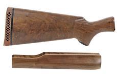 Stock & Forend Set, Orig, New Cond. Set B, Trap Wood -Walnut Wood, Satin Finish.